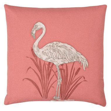 S.J. Dixon Lagoon Embroidered Cushion Coral 008249