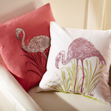 S.J. Dixon Lagoon Embroidered Cushion Pink 008252