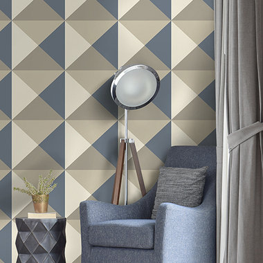 York Wallcoverings For S.J. Dixon Origami RY2753
