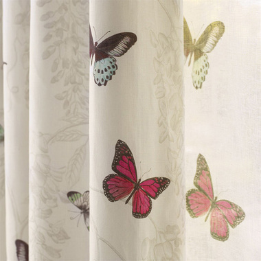 Sanderson Wisteria & Butterfly Fuchsia-Parchment DWOW225527