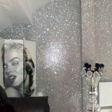 Select Wallpaper Glitter Collection Silver 211901
