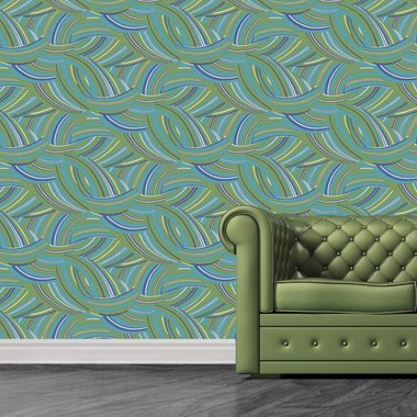 The Vintage Collection 60's Geometric Blue-Green MCWP-14014-1