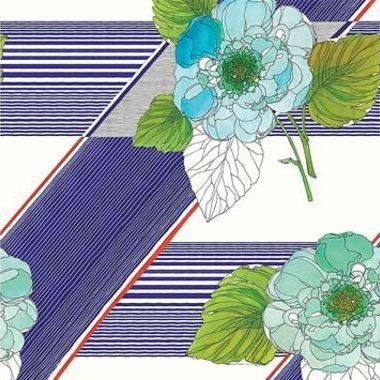 The Vintage Collection Graphic Floral Blue-Green MCWP-14015-1
