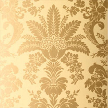 Thibaut Addison Damask Metallic on Straw T3846