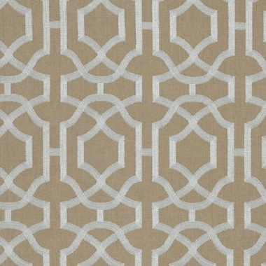 Thibaut Alston Trellis Grey on Natural W713030
