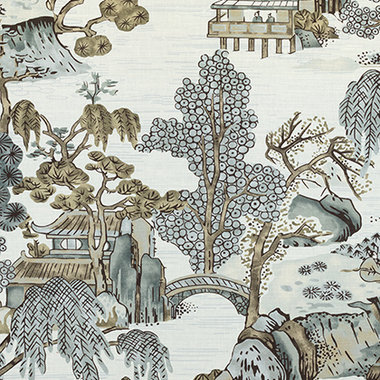 Thibaut Asian Scenic Grey F975463
