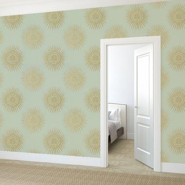Thibaut Bahia Metallic Gold On Cream T35143 Select Wallpaper