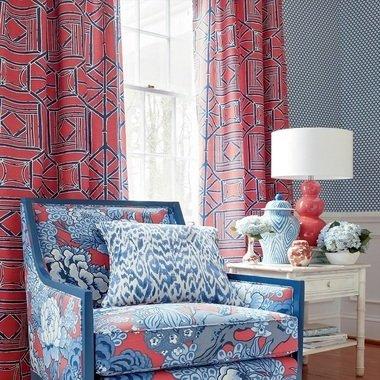 Thibaut Carlotta Blue F975456 Dynasty Fabrics Select