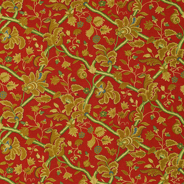 Thibaut Denmark Red and Cream F96032
