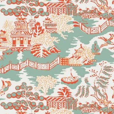 Thibaut Luzon Aqua and Coral T36107