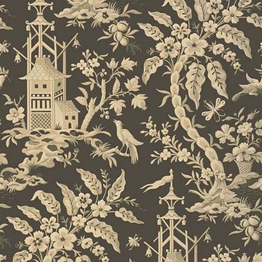 Thibaut Pagoda Garden Charcoal T14207