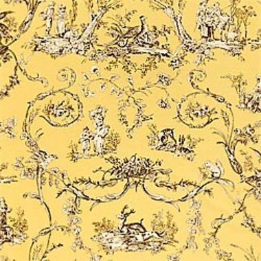 Thibaut Paysannerie Toile Black-Yellow T7372