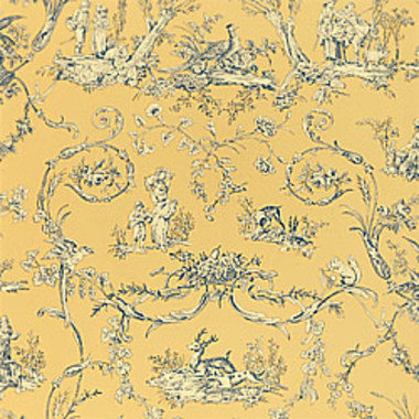 Thibaut Paysannerie Toile Blue-Yellow T7374