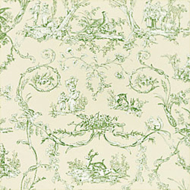 Thibaut Paysannerie Toile Green-Off White T7369