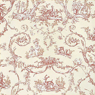 Thibaut Paysannerie Toile Red-Cream T7368