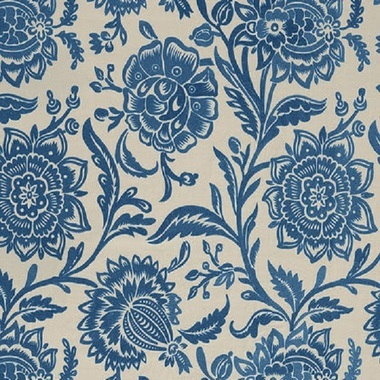 Thibaut Rivera Embroidery Blue on Flax W713025