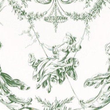 Thibaut Rockwood Toile Green-White T7357