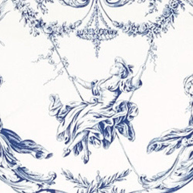 Thibaut Rockwood Toile Blue-White T7358
