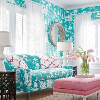 Thibaut South Sea Turquoise T16019