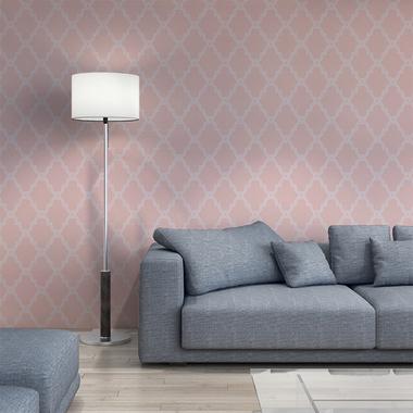 Thibaut Stanbury Trellis Grey T35121 Select Wallpaper