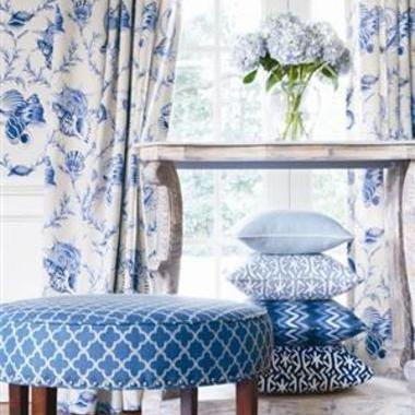 Thibaut Sumba Shell Blue on Natural F95744