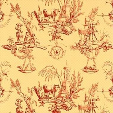 Thibaut Toile De Provence Red-Yellow T7345