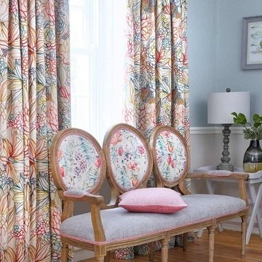 Voyage Althorp Capri Linen Fabric