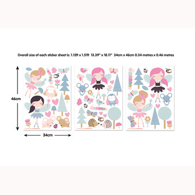Walltastic My Woodland Fairies And Friends Wall Stickers 44944