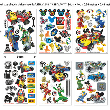 Walltastic Disney Mickey Mouse Roadster Racers 45613