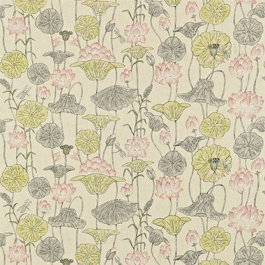 Zoffany Lotus Flower Linen Coral Ztow320814 Zoffany Town Country