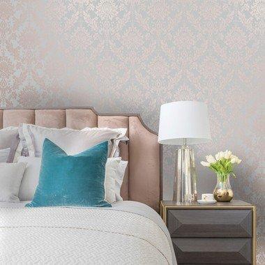 Holden Decor For Colemans Clara Rose Gold Grey 35970 Select Wallpaper