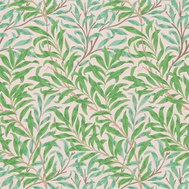 Ben Pentreath For Morris & Co Willow Bough Pink-Leaf 216949