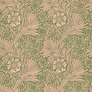 Ben Pentreath For Morris & Co Marigold Pink-Olive 216953