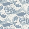 Cole & Son Great Wave Blue-White 89-2007 Thumbnail