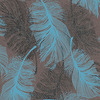 Coloroll Feather Choc Teal M0961 Thumbnail
