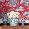 Thibaut Cheng Toile Red and Blue T75466 Thumbnail