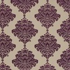 Thibaut Arturo Damask Dark Purple on Flax W713016 Thumbnail