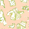 Thibaut Duds Pink on Green T5126 Thumbnail
