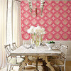 Thibaut Julie Damask Off White and Aqua T4768 Thumbnail