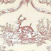 Thibaut Paysannerie Toile Red-Cream T7368 Thumbnail