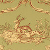 Thibaut Paysannerie Toile Red-Green T7366 Thumbnail
