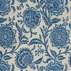 Thibaut Rivera Embroidery Blue on Flax W713025 Thumbnail