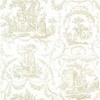 Thibaut Springfield Toile Beige on White T6902 Thumbnail