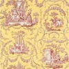 Thibaut Springfield Toile Red on Yellow T6905 Thumbnail