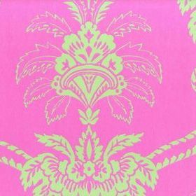 Anna French Damask Pink-Green DAMWP050