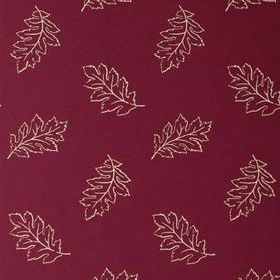 Anna French Etched Leaf Off White-Red Brown ETCNW064