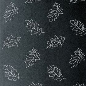 Anna French Etched Leaf White-Black ETCNW083