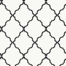 Anna French Klein Trellis Black-White AT6059
