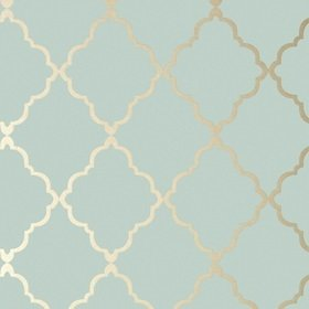 Anna French Klein Trellis Metallic Gold-Aqua AT6058