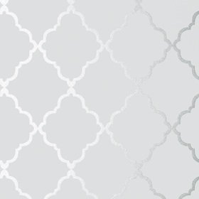 Anna French Klein Trellis Silver on Grey AT6057